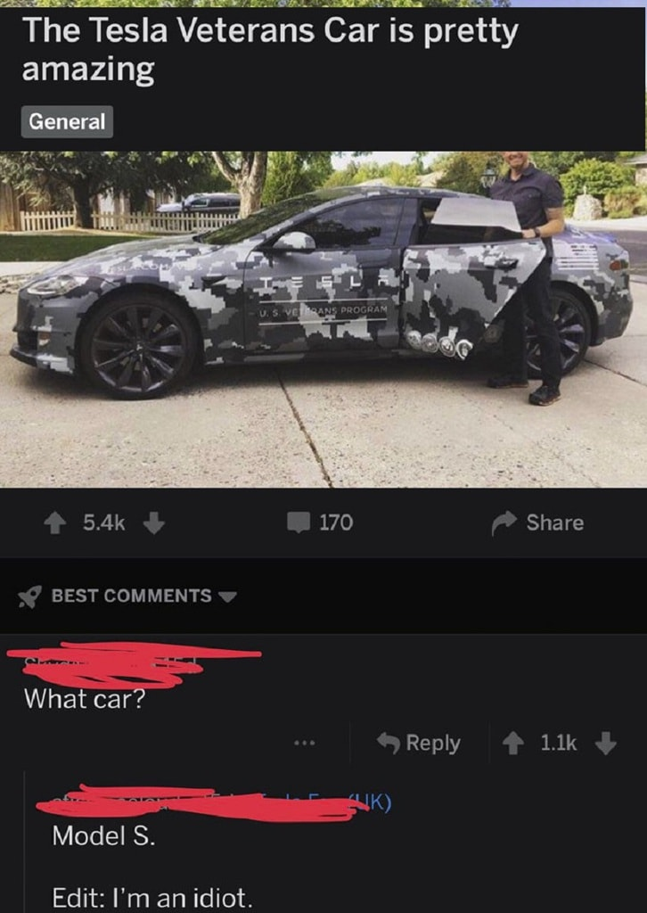 Caught by the classic camo joke