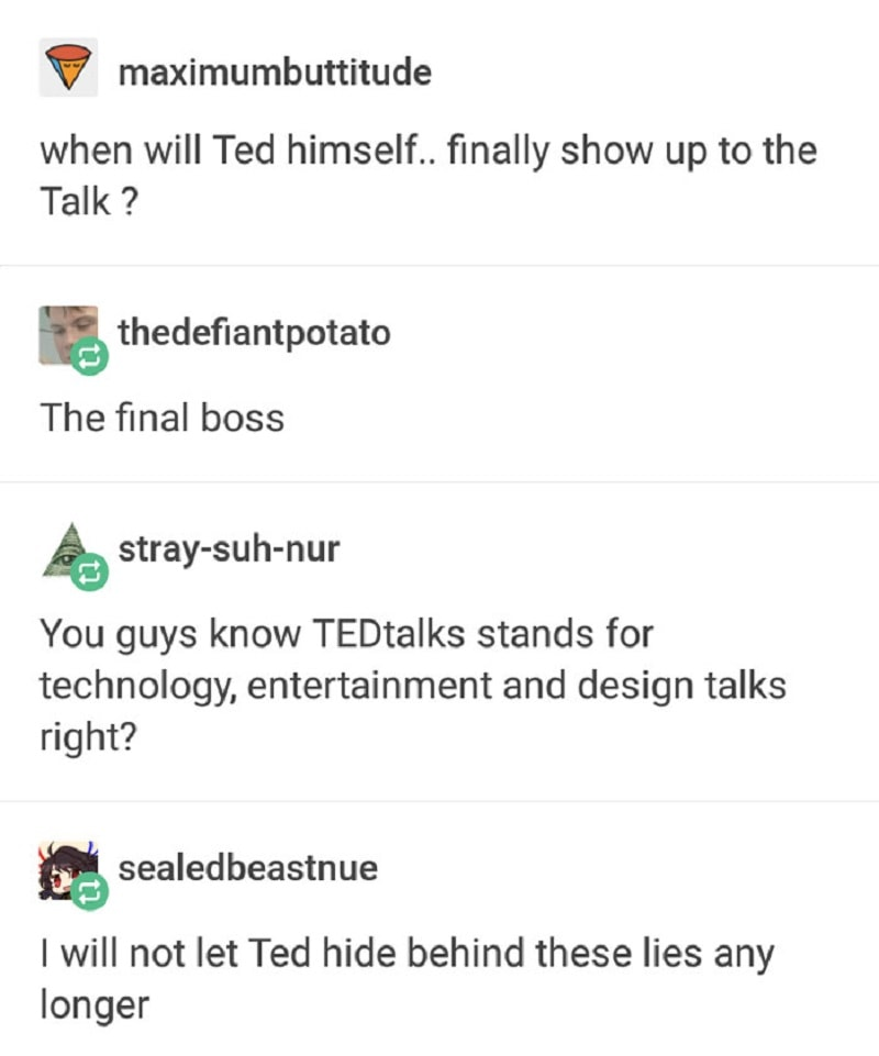 Ted, hiding in a castle of lies